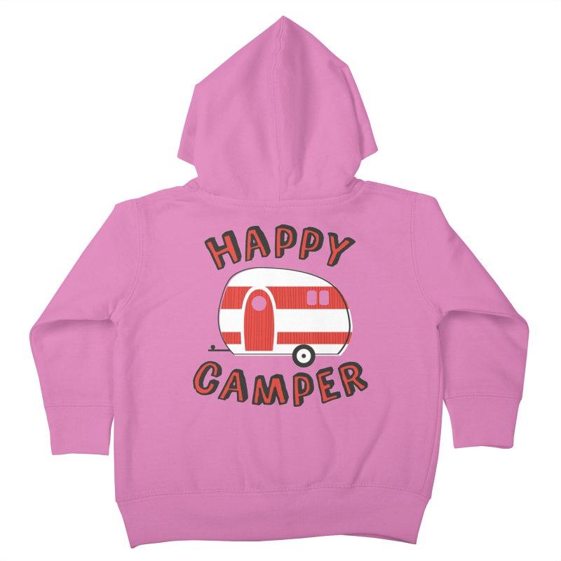 Happy Camper Kids Toddler Zip-Up Hoody by Robyriker Designs - Elishka Jepson