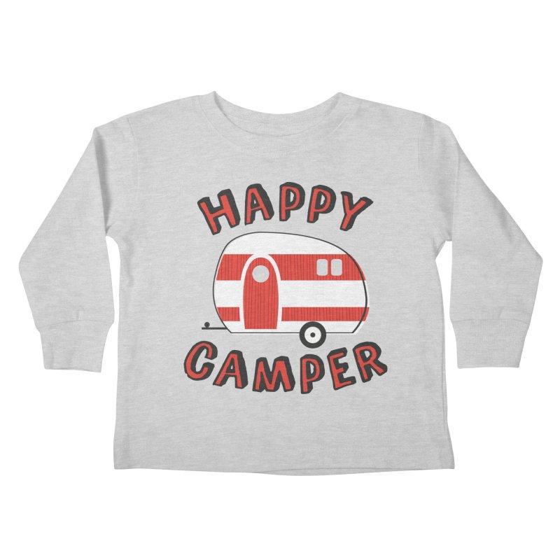 Happy Camper Kids Toddler Longsleeve T-Shirt by Robyriker Designs - Elishka Jepson