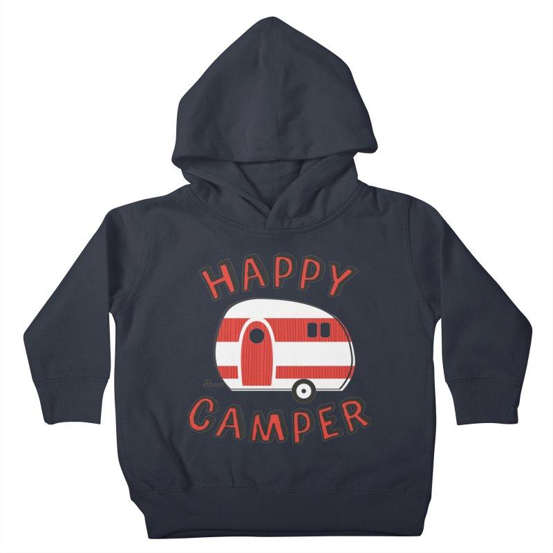 Happy Camper Kids Toddler Pullover Hoody by Robyriker Designs - Elishka Jepson