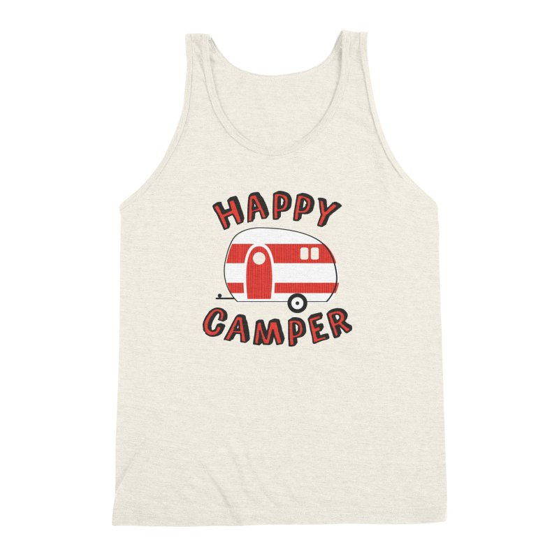 Happy Camper Men's Triblend Tank by Robyriker Designs - Elishka Jepson