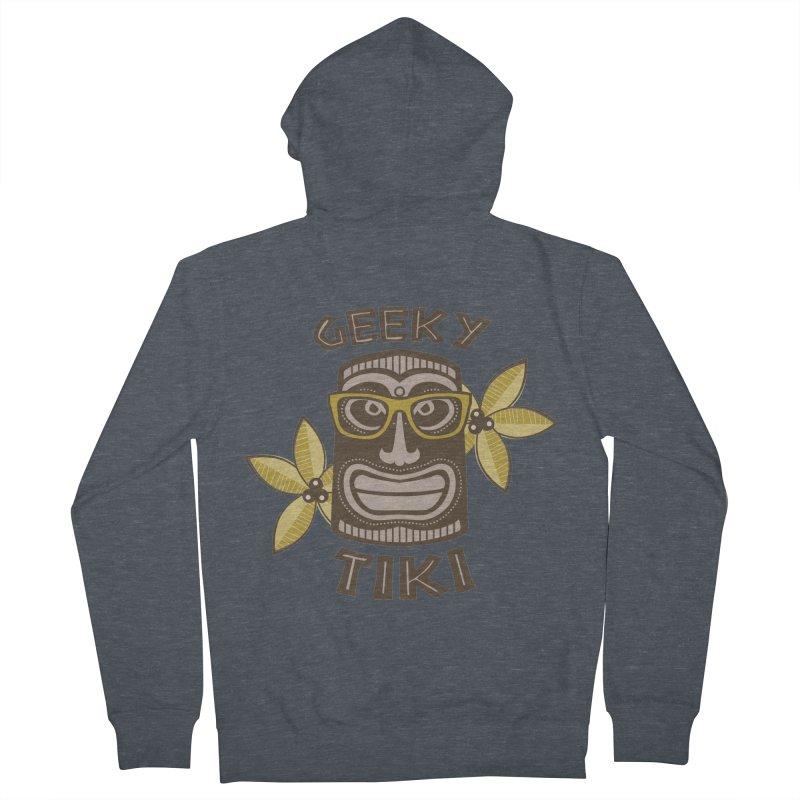 Geeky Tiki Men's Zip-Up Hoody by Robyriker Designs - Elishka Jepson