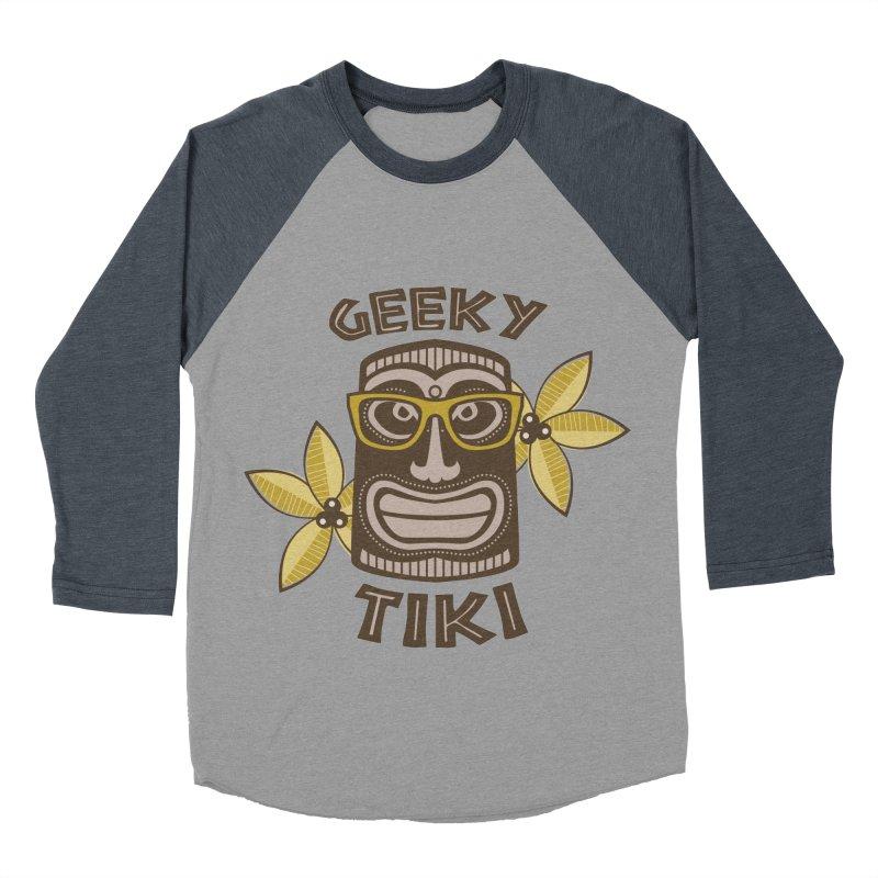 Geeky Tiki Women's Baseball Triblend T-Shirt by Robyriker Designs - Elishka Jepson