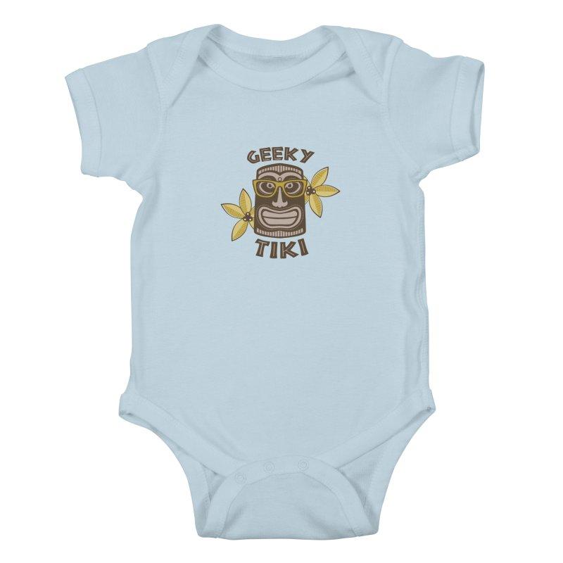 Geeky Tiki Kids Baby Bodysuit by Robyriker Designs - Elishka Jepson