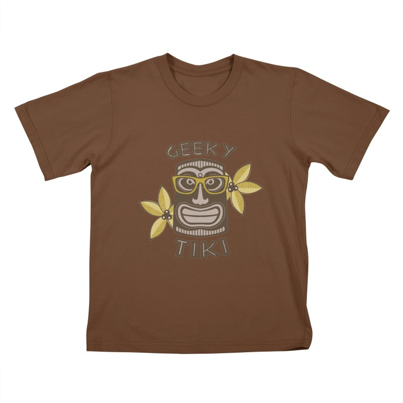 Geeky Tiki Kids T-Shirt by Robyriker Designs - Elishka Jepson