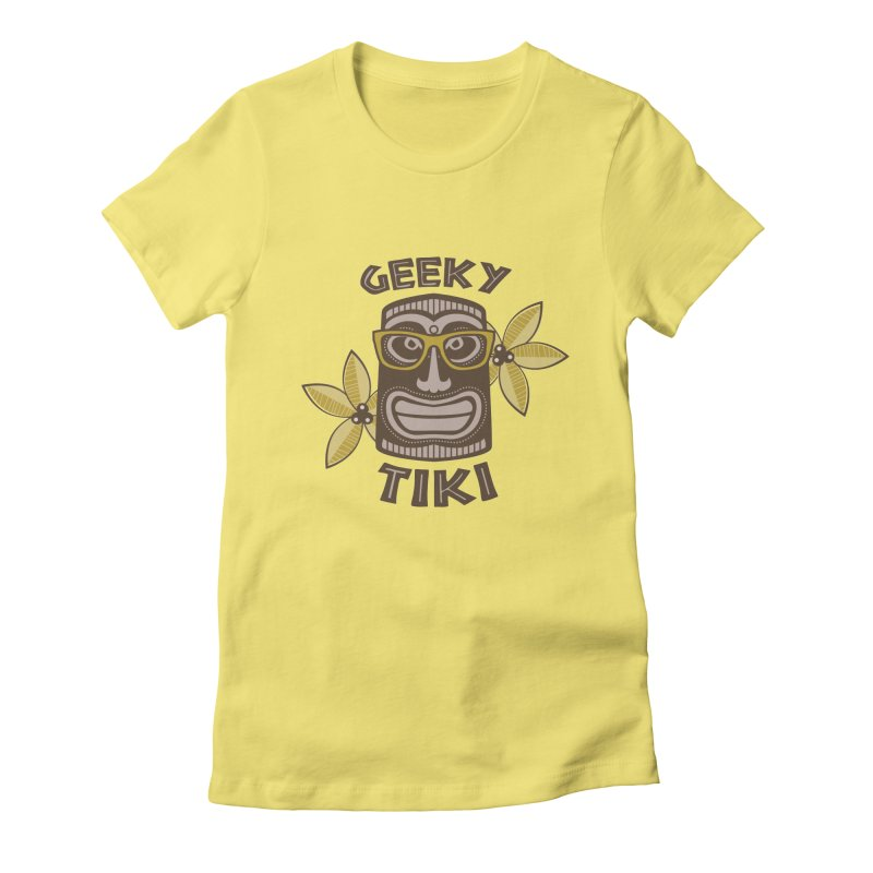 Geeky Tiki Women's Fitted T-Shirt by Robyriker Designs - Elishka Jepson