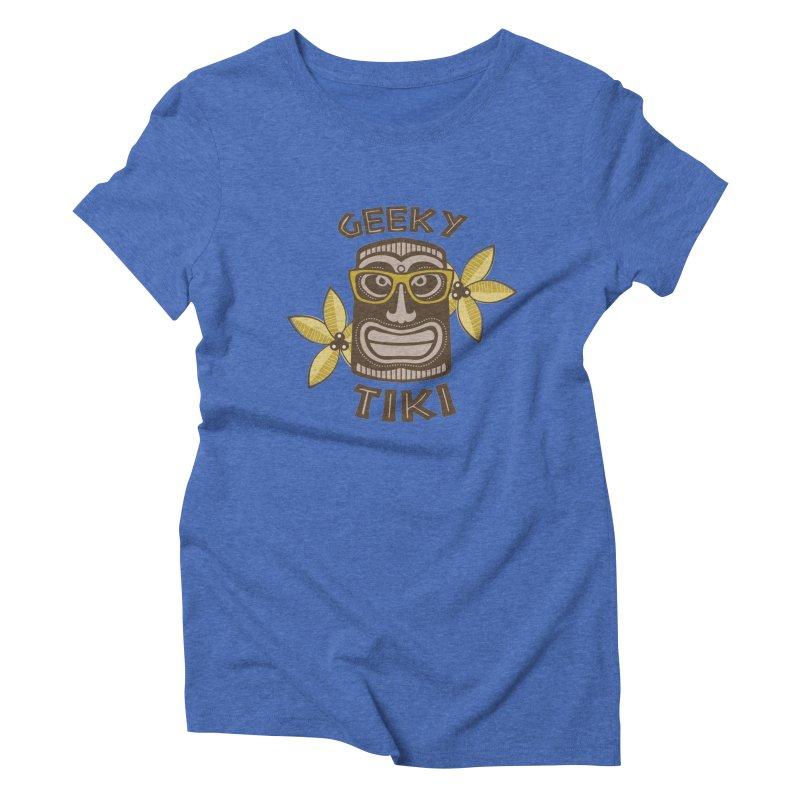Geeky Tiki Women's Triblend T-Shirt by Robyriker Designs - Elishka Jepson