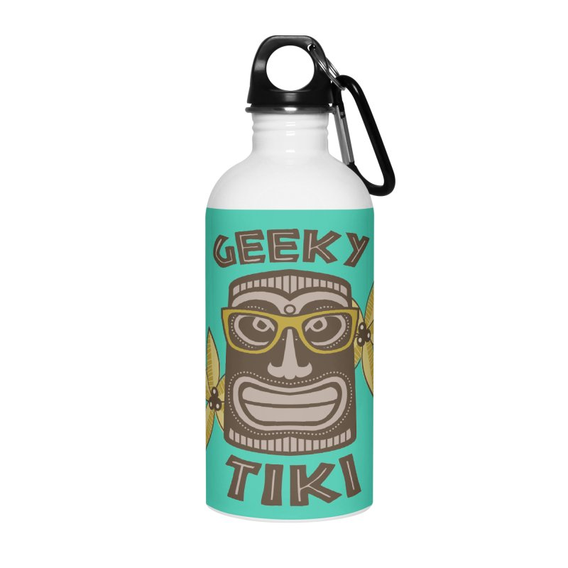 Geeky Tiki Accessories Water Bottle by Robyriker Designs - Elishka Jepson