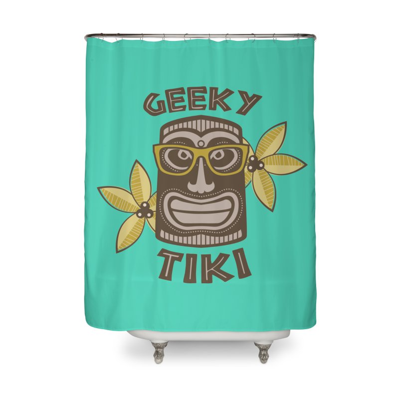 Geeky Tiki Home Shower Curtain by Robyriker Designs - Elishka Jepson