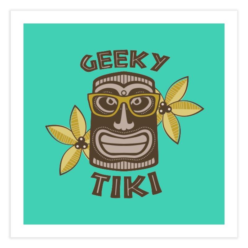 Geeky Tiki Home Fine Art Print by Robyriker Designs - Elishka Jepson