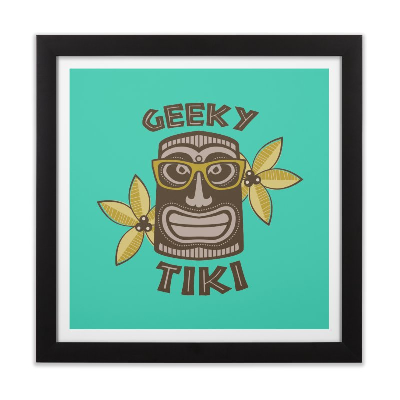 Geeky Tiki Home Framed Fine Art Print by Robyriker Designs - Elishka Jepson