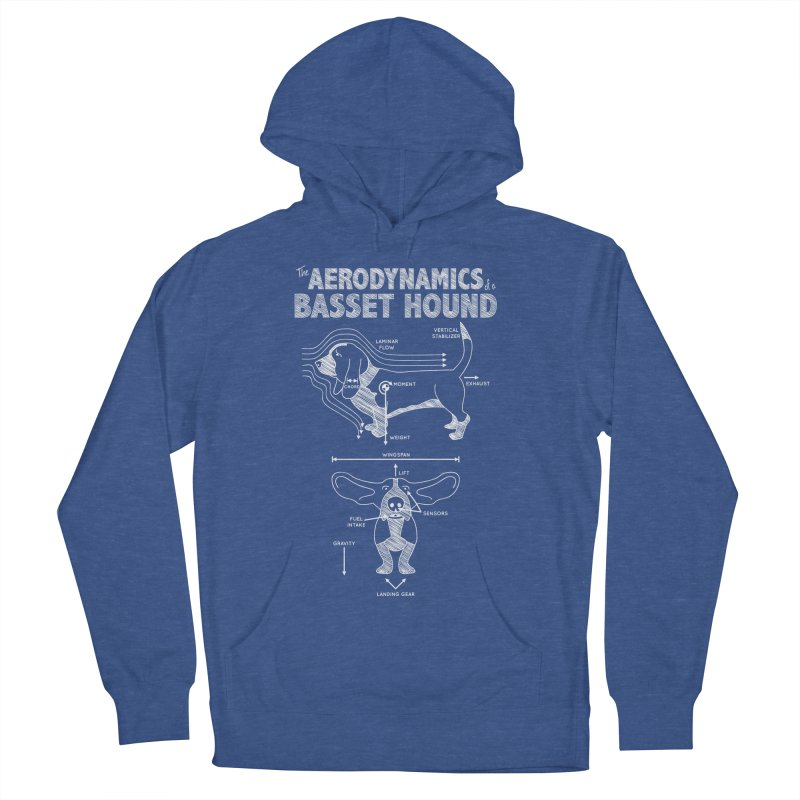 The Aerodynamics of a Basset Hound Women's Pullover Hoody by Robyriker Designs - Elishka Jepson