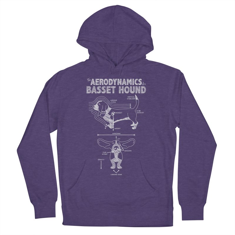 The Aerodynamics of a Basset Hound Men's Pullover Hoody by Robyriker Designs - Elishka Jepson