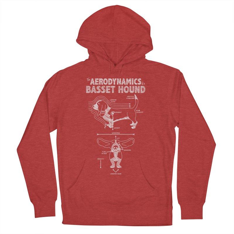 The Aerodynamics of a Basset Hound Men's Pullover Hoody by Robyriker Designs - Elishka Jepson