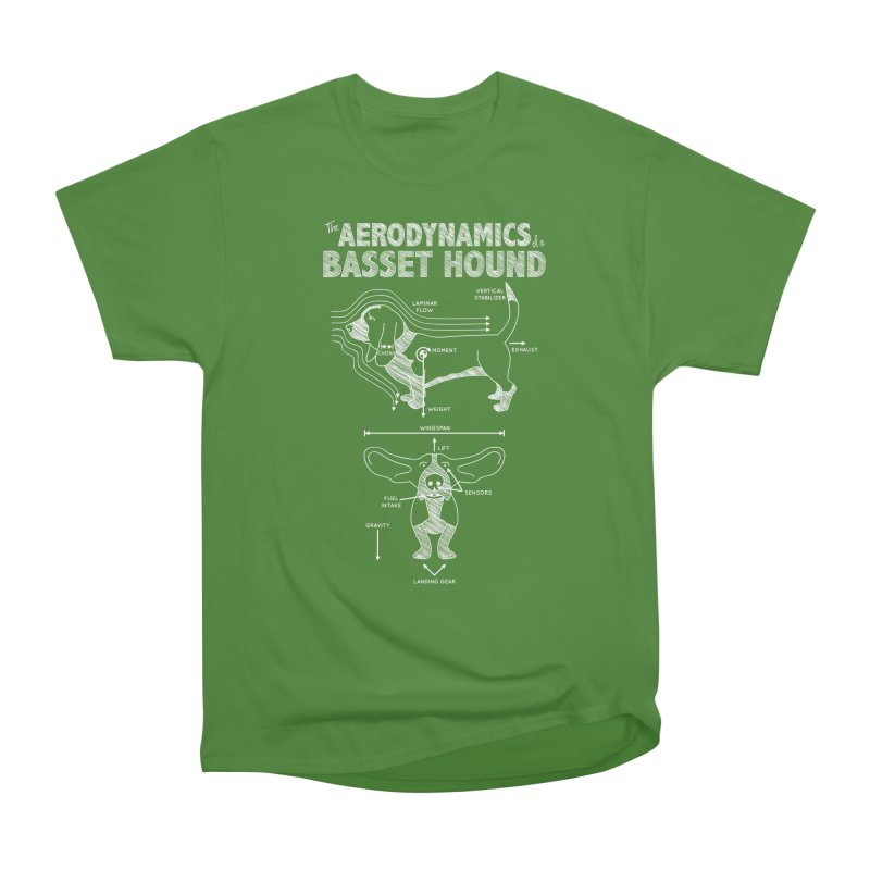 The Aerodynamics of a Basset Hound Men's Classic T-Shirt by Robyriker Designs - Elishka Jepson