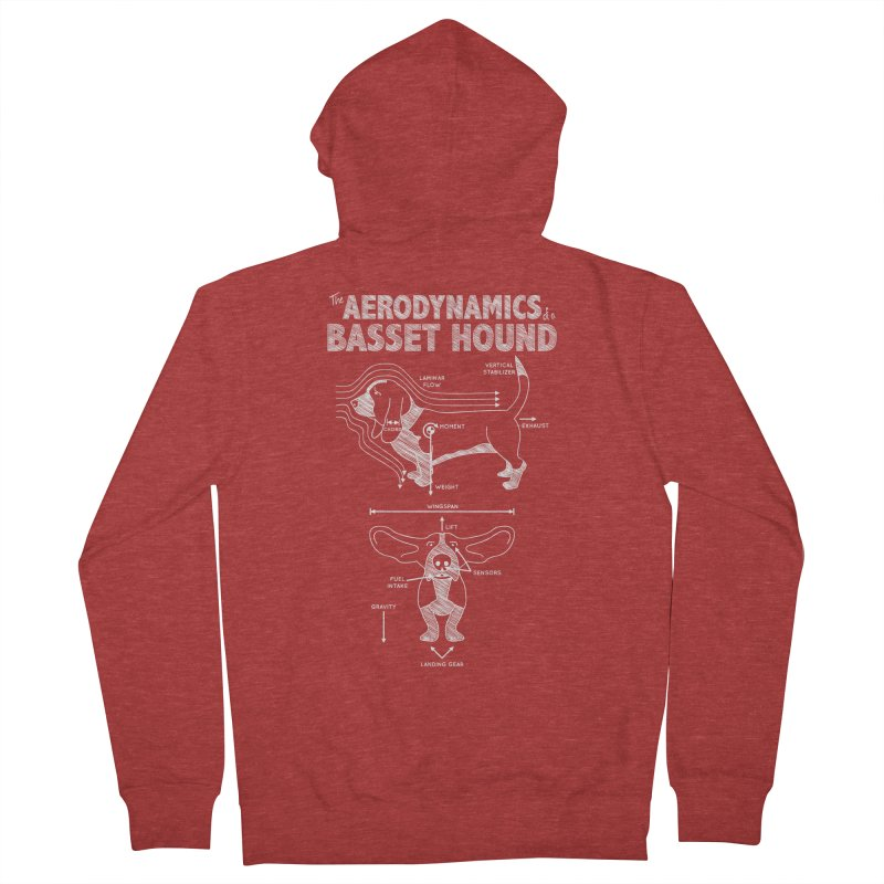 The Aerodynamics of a Basset Hound Women's Zip-Up Hoody by Robyriker Designs - Elishka Jepson