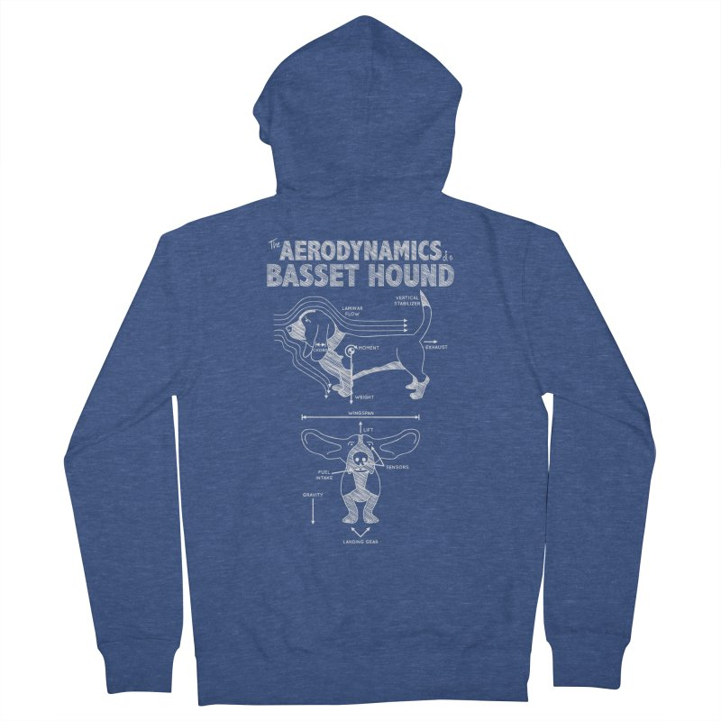 The Aerodynamics of a Basset Hound Men's Zip-Up Hoody by Robyriker Designs - Elishka Jepson