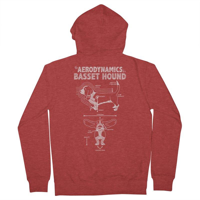 The Aerodynamics of a Basset Hound Men's Zip-Up Hoody by Robyriker Designs - Elishka Jepson