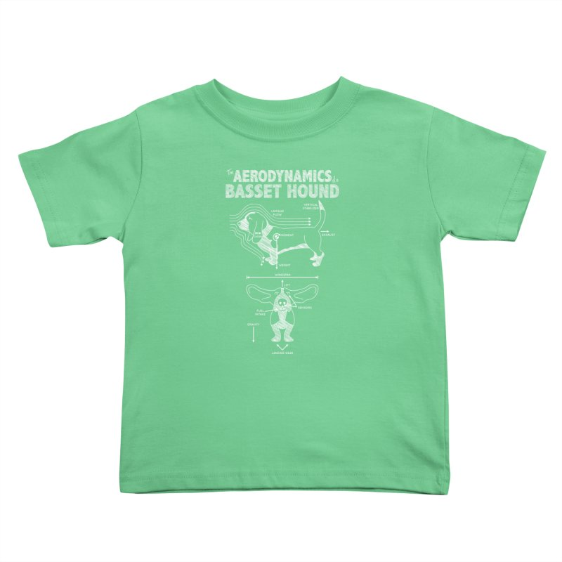 The Aerodynamics of a Basset Hound Kids Toddler T-Shirt by Robyriker Designs - Elishka Jepson