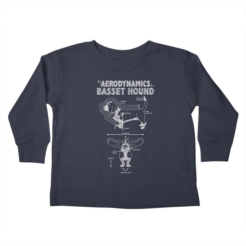 The Aerodynamics of a Basset Hound Kids Toddler Longsleeve T-Shirt by Robyriker Designs - Elishka Jepson