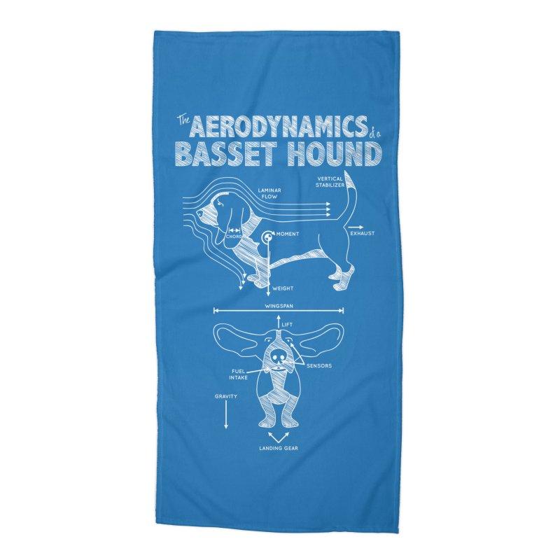 The Aerodynamics of a Basset Hound Accessories Beach Towel by Robyriker Designs - Elishka Jepson