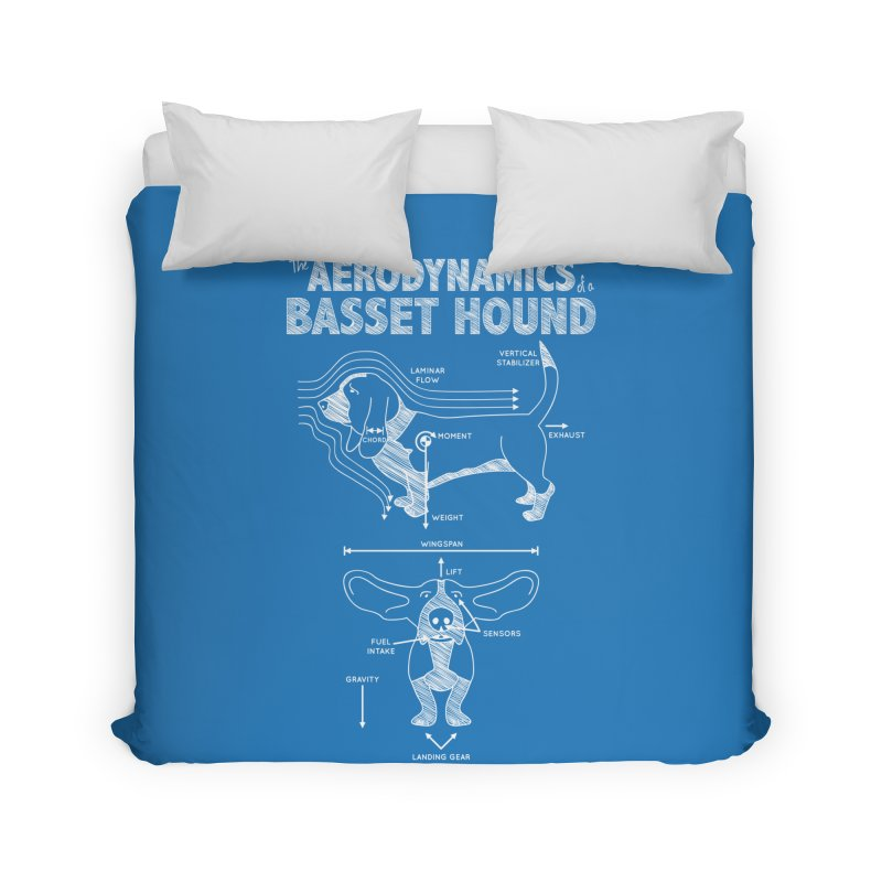 The Aerodynamics of a Basset Hound Home Duvet by Robyriker Designs - Elishka Jepson