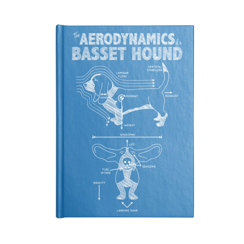 The Aerodynamics of a Basset Hound Accessories Notebook by Robyriker Designs - Elishka Jepson