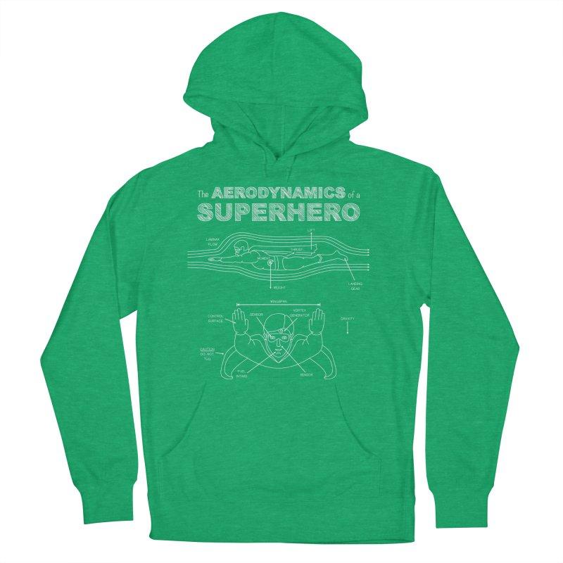 The Aerodynamics of a Superhero Men's Pullover Hoody by Robyriker Designs - Elishka Jepson