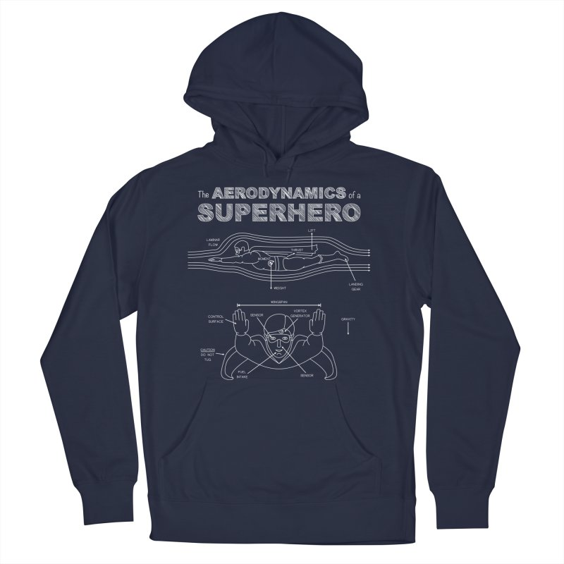 The Aerodynamics of a Superhero Men's Pullover Hoody by Robyriker Designs - Elishka Jepson