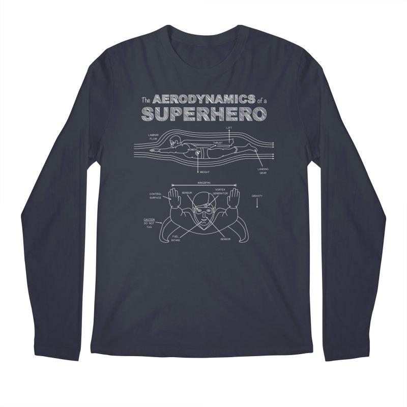 The Aerodynamics of a Superhero Men's Longsleeve T-Shirt by Robyriker Designs - Elishka Jepson