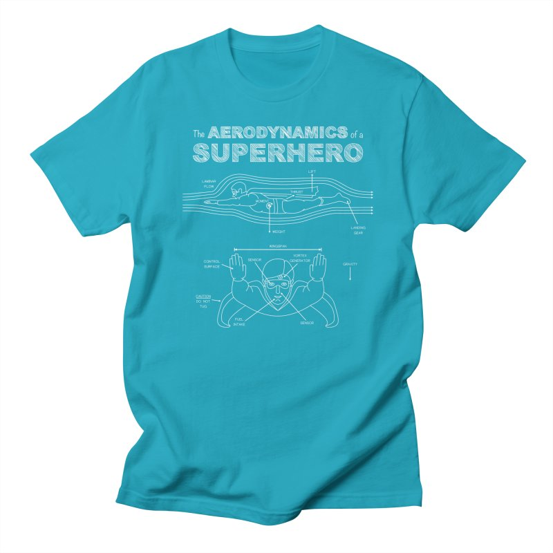 The Aerodynamics of a Superhero Men's T-Shirt by Robyriker Designs - Elishka Jepson