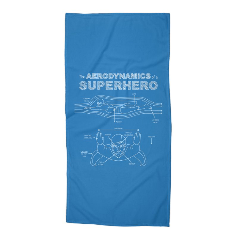 The Aerodynamics of a Superhero Accessories Beach Towel by Robyriker Designs - Elishka Jepson