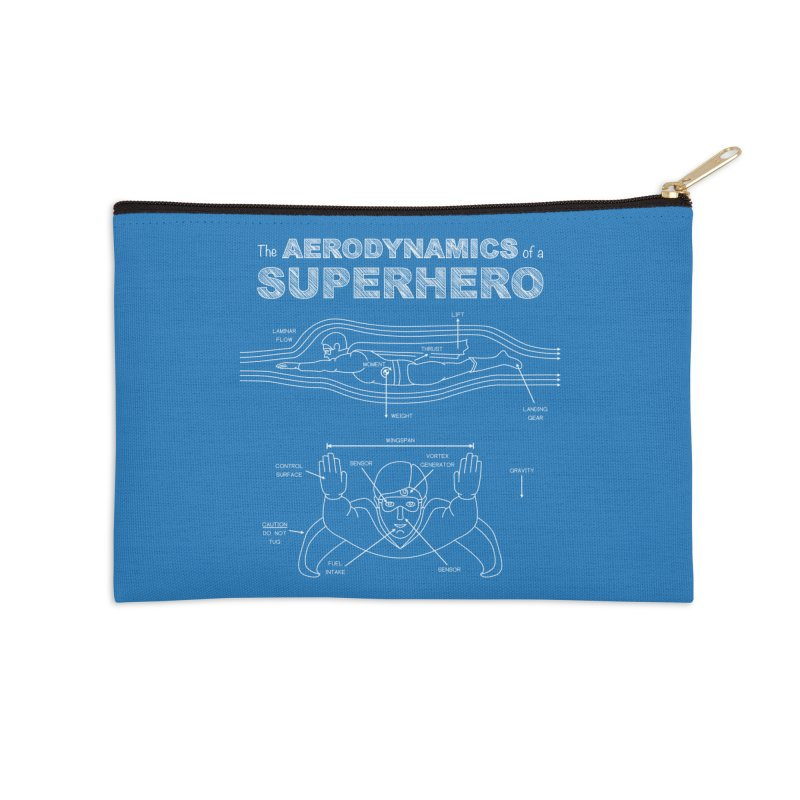 The Aerodynamics of a Superhero Accessories Zip Pouch by Robyriker Designs - Elishka Jepson