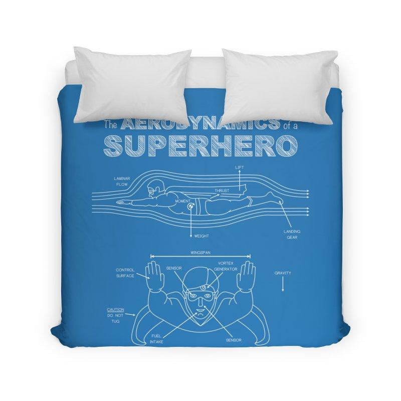 The Aerodynamics of a Superhero Home Duvet by Robyriker Designs - Elishka Jepson
