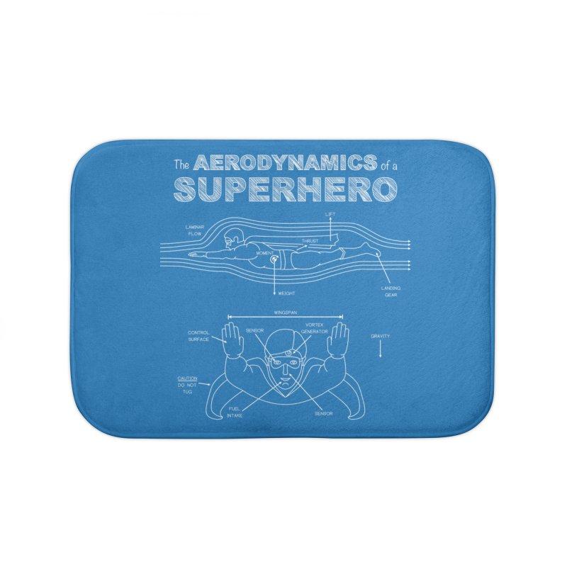 The Aerodynamics of a Superhero Home Bath Mat by Robyriker Designs - Elishka Jepson