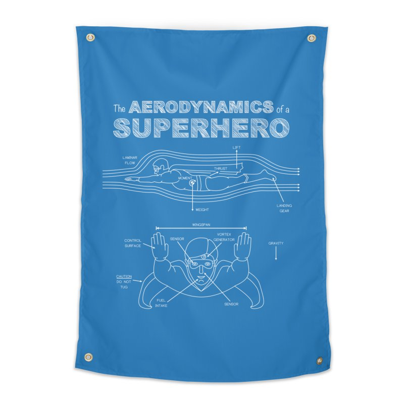 The Aerodynamics of a Superhero Home Tapestry by Robyriker Designs - Elishka Jepson