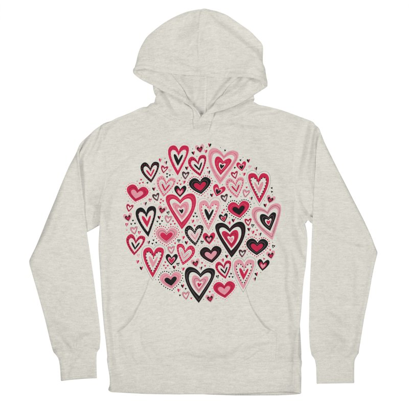 Lovely Hearts Women's Pullover Hoody by Robyriker Designs - Elishka Jepson