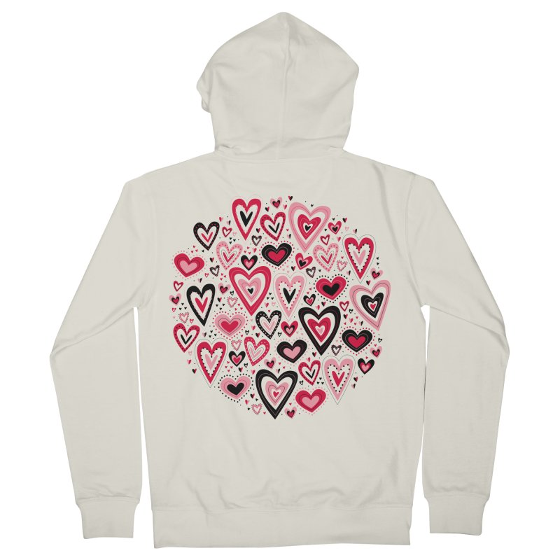 Lovely Hearts Women's Zip-Up Hoody by Robyriker Designs - Elishka Jepson
