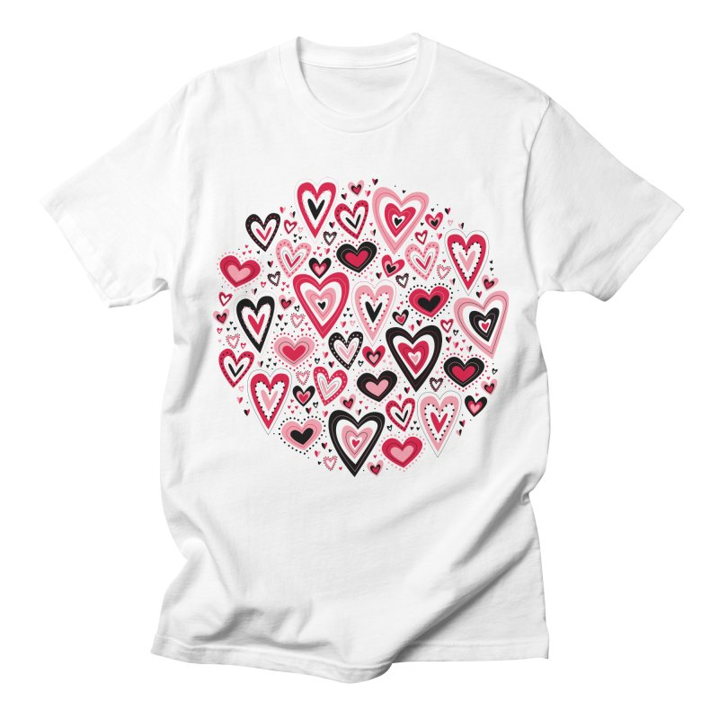 Lovely Hearts Men's T-Shirt by Robyriker Designs - Elishka Jepson