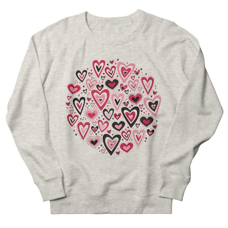 Lovely Hearts Women's Sweatshirt by Robyriker Designs - Elishka Jepson