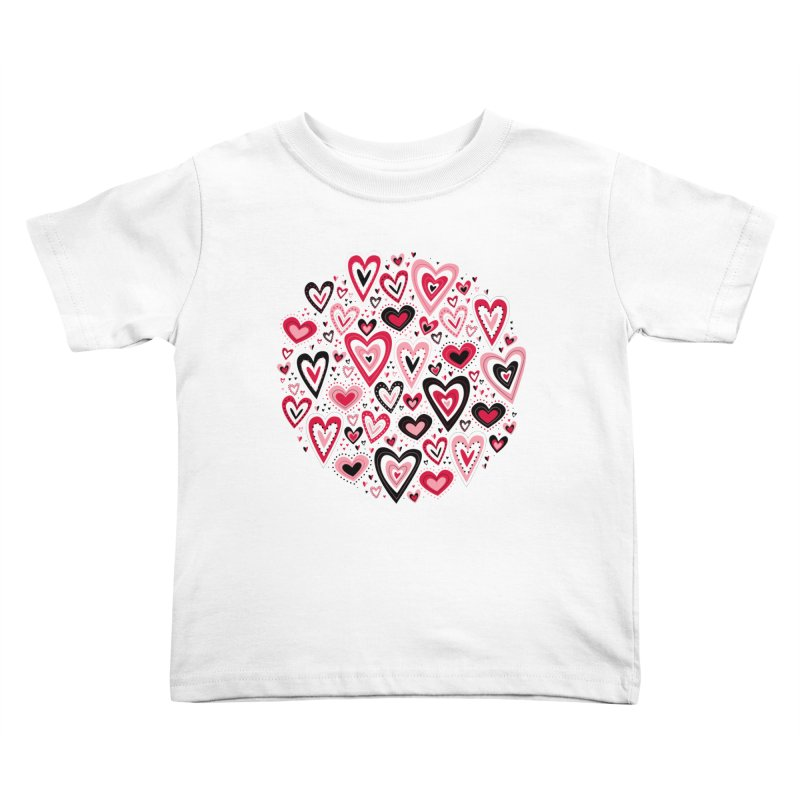 Lovely Hearts Kids Toddler T-Shirt by Robyriker Designs - Elishka Jepson
