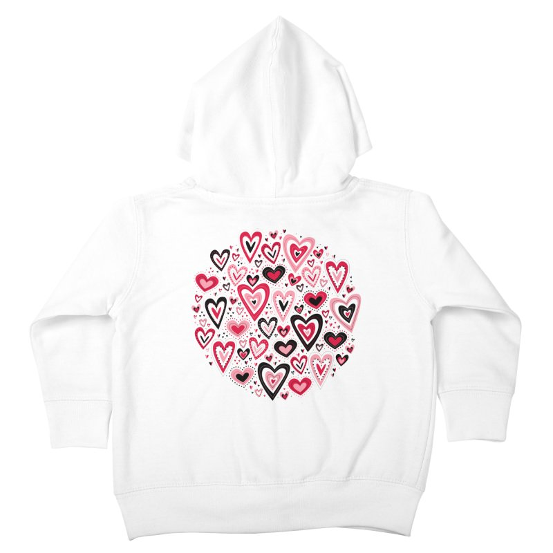 Lovely Hearts Kids Toddler Zip-Up Hoody by Robyriker Designs - Elishka Jepson