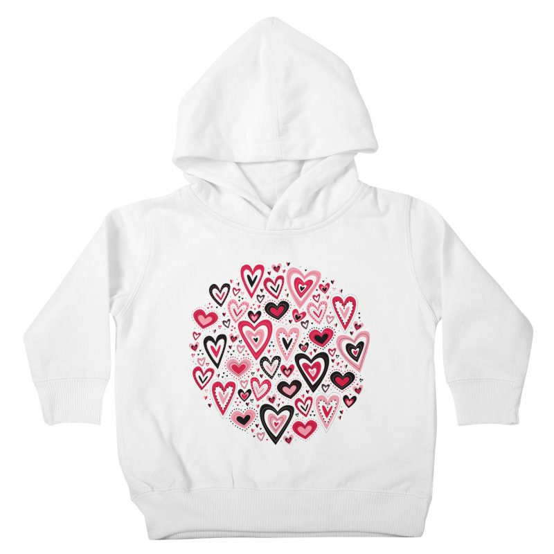 Lovely Hearts Kids Toddler Pullover Hoody by Robyriker Designs - Elishka Jepson