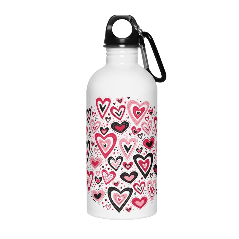 Lovely Hearts Accessories Water Bottle by Robyriker Designs - Elishka Jepson