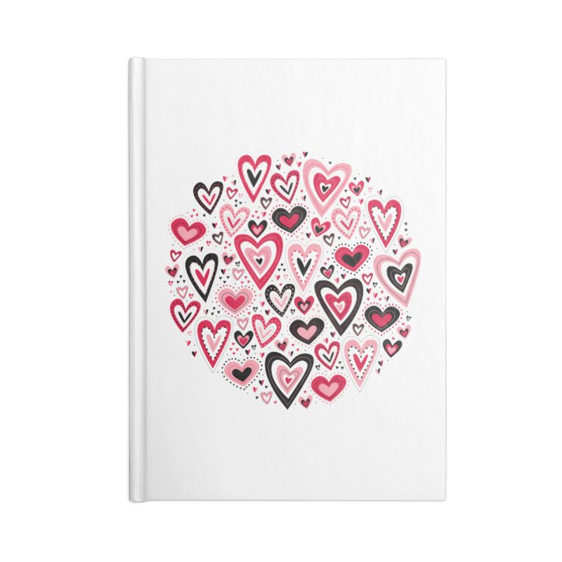 Lovely Hearts Accessories Notebook by Robyriker Designs - Elishka Jepson