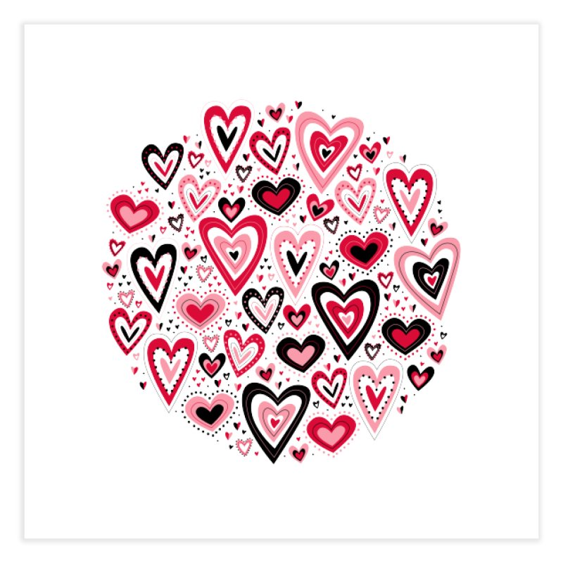 Lovely Hearts Home Fine Art Print by Robyriker Designs - Elishka Jepson