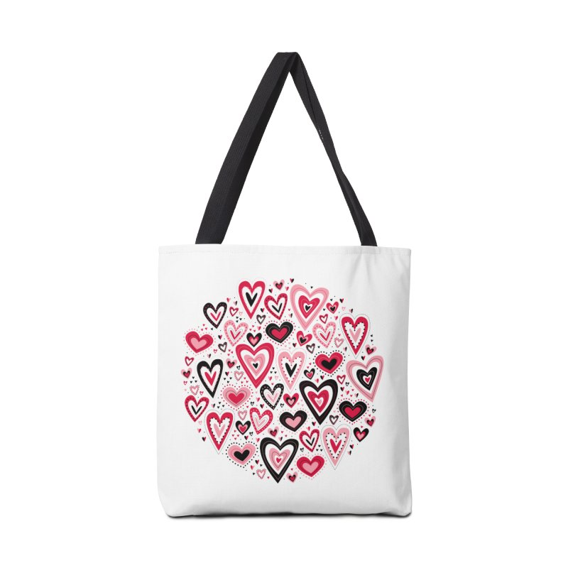 Lovely Hearts Accessories Bag by Robyriker Designs - Elishka Jepson