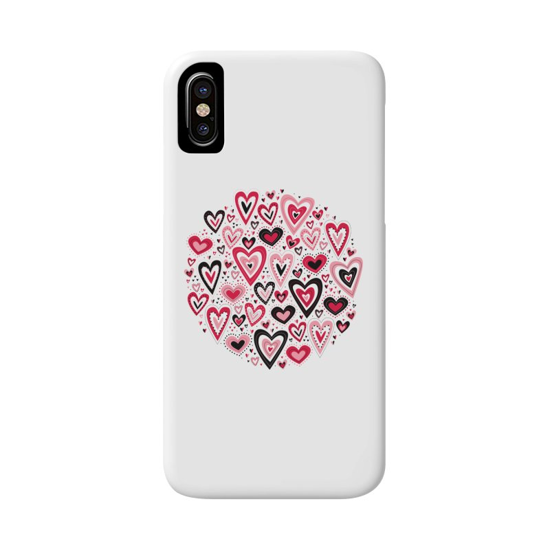 Lovely Hearts Accessories Phone Case by Robyriker Designs - Elishka Jepson