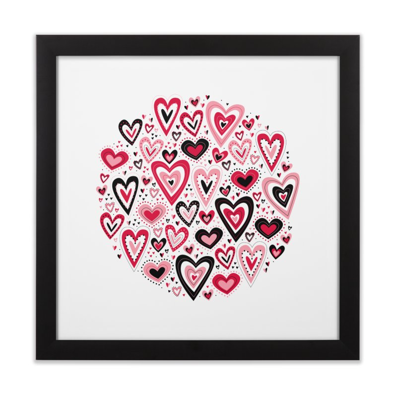 Lovely Hearts Home Framed Fine Art Print by Robyriker Designs - Elishka Jepson