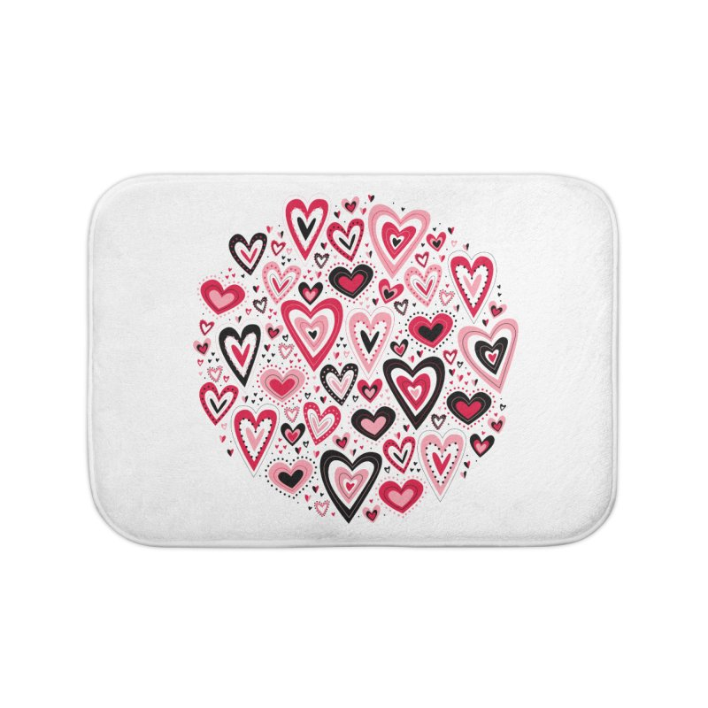 Lovely Hearts Home Bath Mat by Robyriker Designs - Elishka Jepson