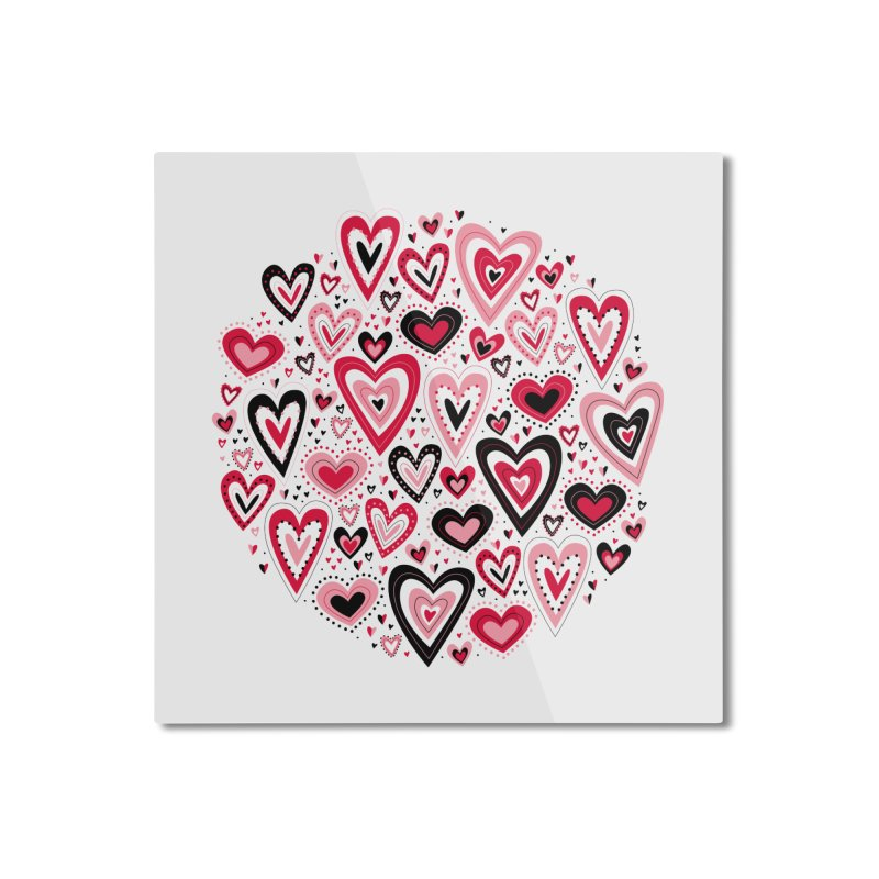 Lovely Hearts Home Mounted Aluminum Print by Robyriker Designs - Elishka Jepson